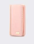 Εικόνα από Γυναικεία πορτοφόλια με λεπτομέρεια από ραφή Ροζ