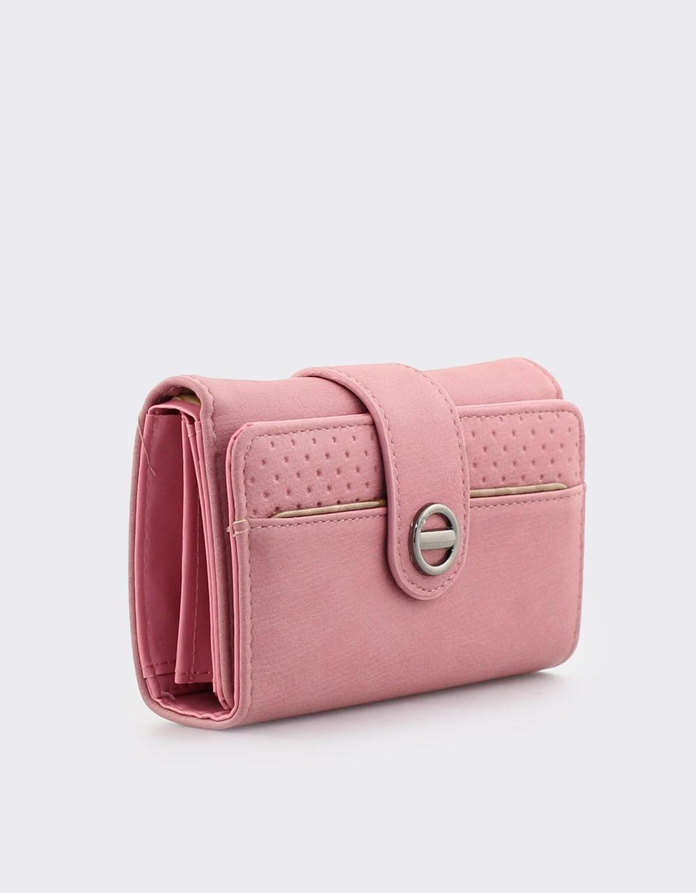 Εικόνα από Γυναικεία πορτοφόλια με κλείσιμο με λουράκι Ροζ Σκούρο