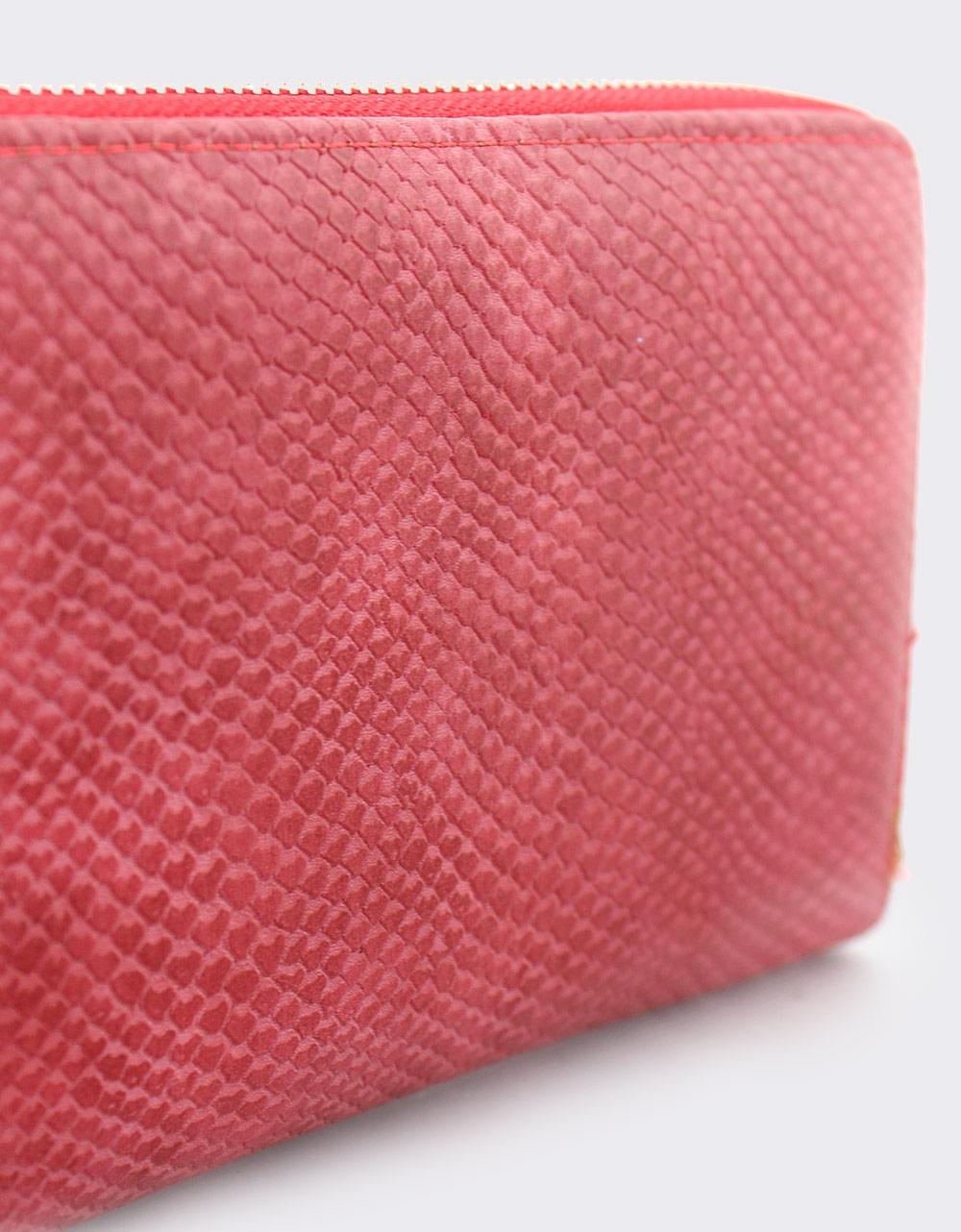 Εικόνα από Γυναικεία πορτοφόλια με κροκό μοτίβο Κόκκινο