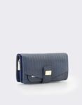 Εικόνα από Γυναικεία πορτοφόλια με ανάγλυφο μοτίβο Μπλε