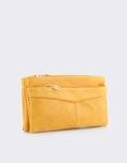 Εικόνα από Γυναικεία πορτοφόλια με διακοσμητικό στο φερμουάρ Κάμελ