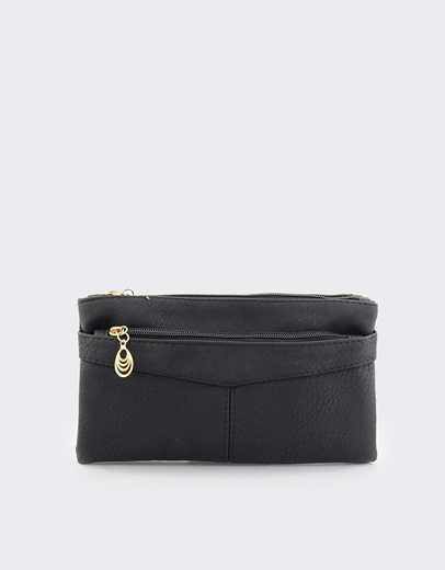 86aa2d7fb1 Εικόνα της Γυναικεία πορτοφόλια με διακοσμητικό στο φερμουάρ Μαύρο