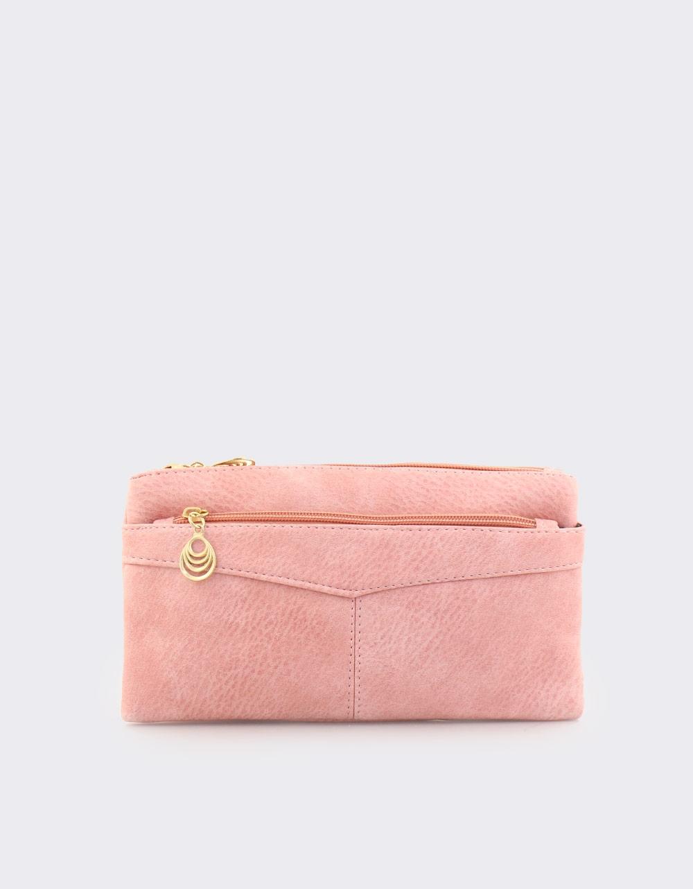 Εικόνα από Γυναικεία πορτοφόλια με διακοσμητικό στο φερμουάρ Ροζ
