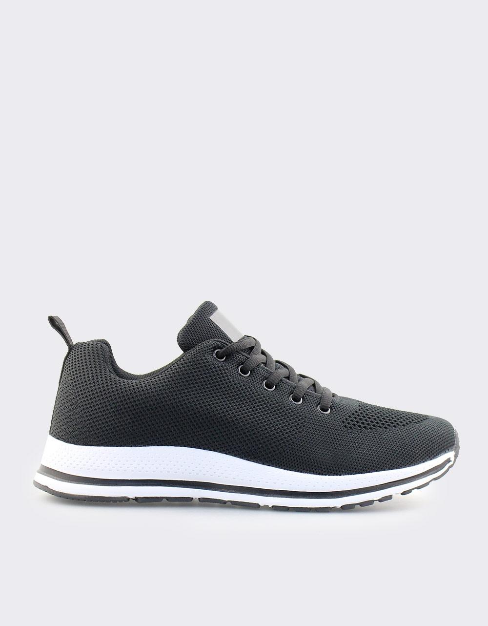 Εικόνα από Ανδρικά sneakers με λεπτομέρεια στη σόλα Μαύρο/Λευκό
