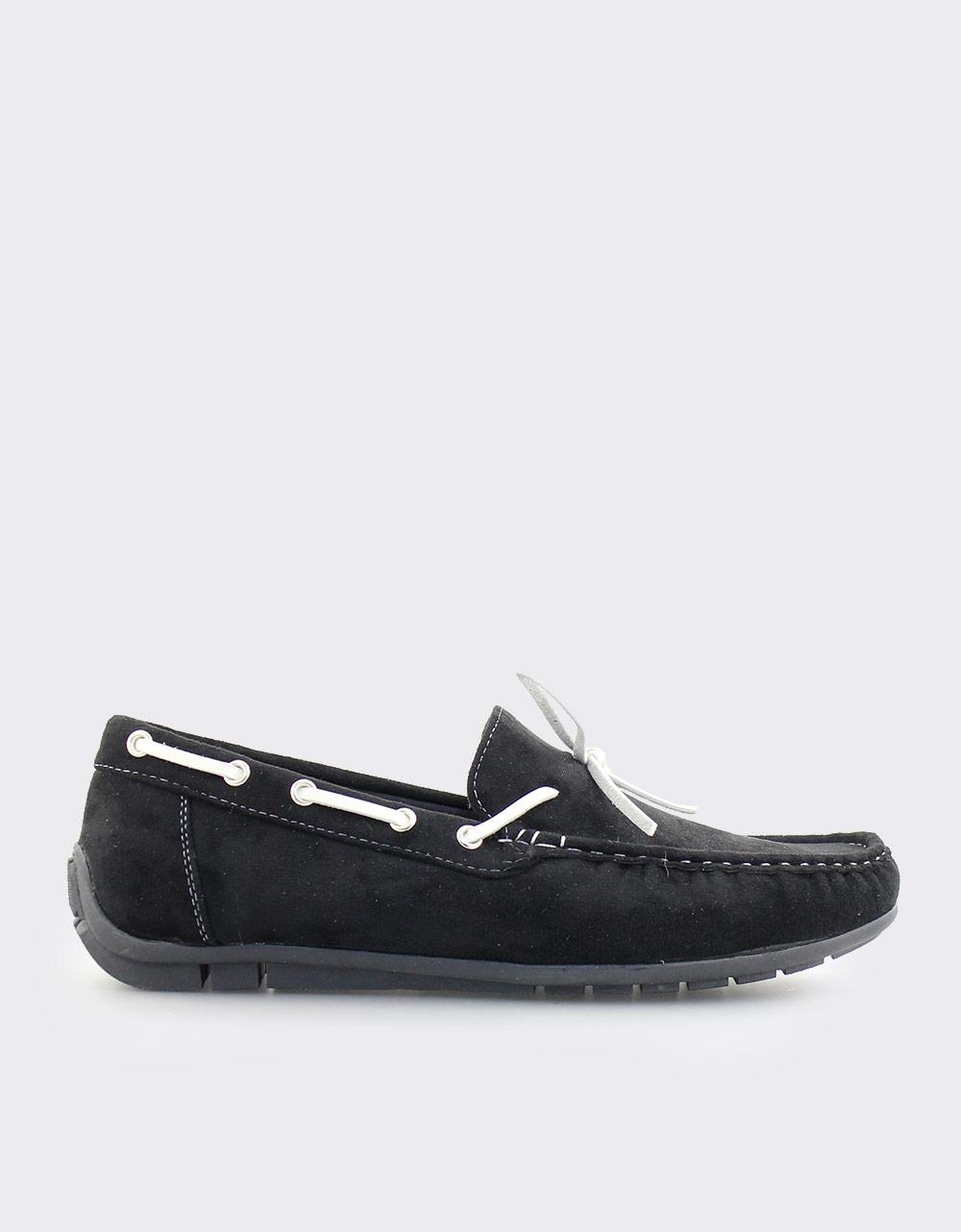 Εικόνα από Ανδρικά loafers μονόχρωμα Μαύρο