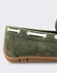 Εικόνα από Ανδρικά loafers μονόχρωμα Χακί