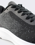 Εικόνα από Ανδρικά sneakers με λεπτομέρειες στη σόλα Μαύρο/Λευκό