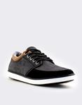 Εικόνα από Ανδρικά sneakers με διχρωμία στο γιακά Μαύρο