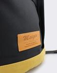 Εικόνα από Ανδρικά σακίδια πλάτης με δίχρωμες λεπτομέρειες Μαύρο