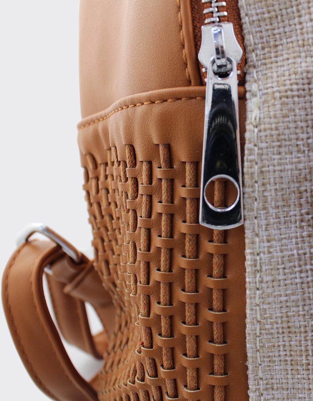 Εικόνα από Γυναικεία σακίδια πλάτης με ανάγλυφο σχέδιο Ταμπά