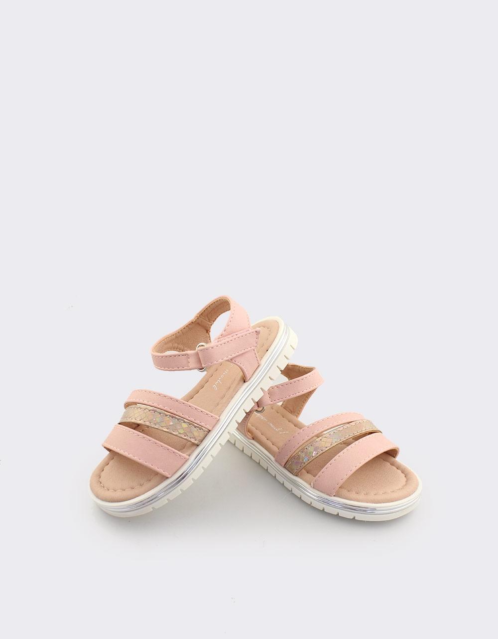 810a2b93d6b Inshoes.gr. Παιδικά πέδιλα με μεταλλιζέ λεπτομέρειες | InShoes.gr Ροζ