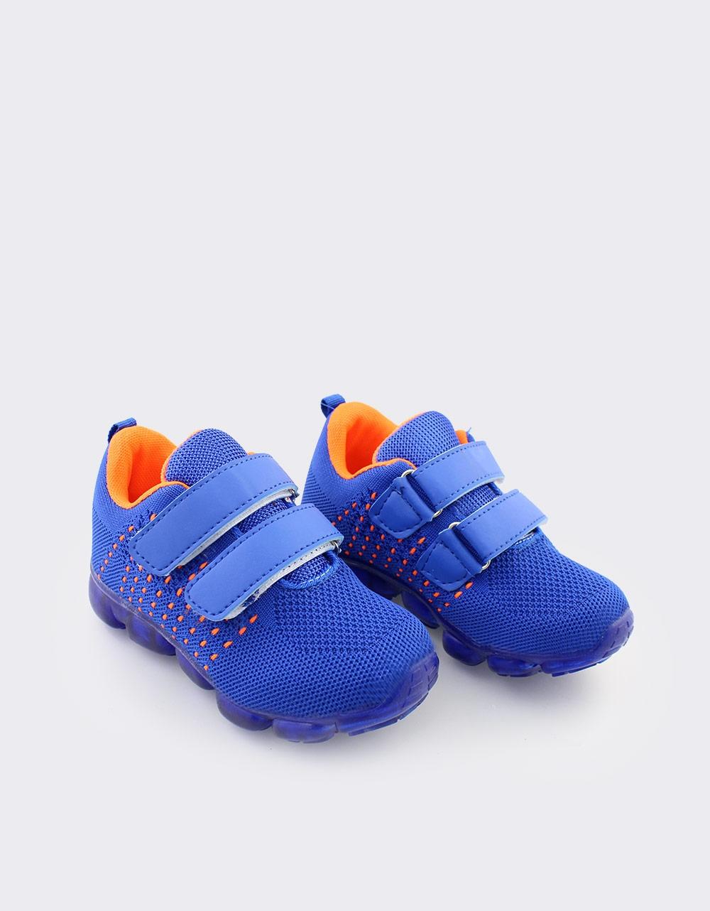 Εικόνα από Παιδικά αθλητικά με γκοφρέ μοτίβο Μπλε