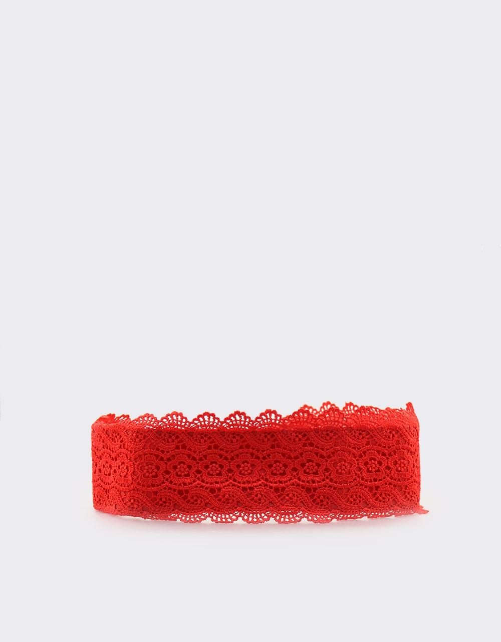 Εικόνα από Γυναικείες ζώνες με δαντέλα Κόκκινο