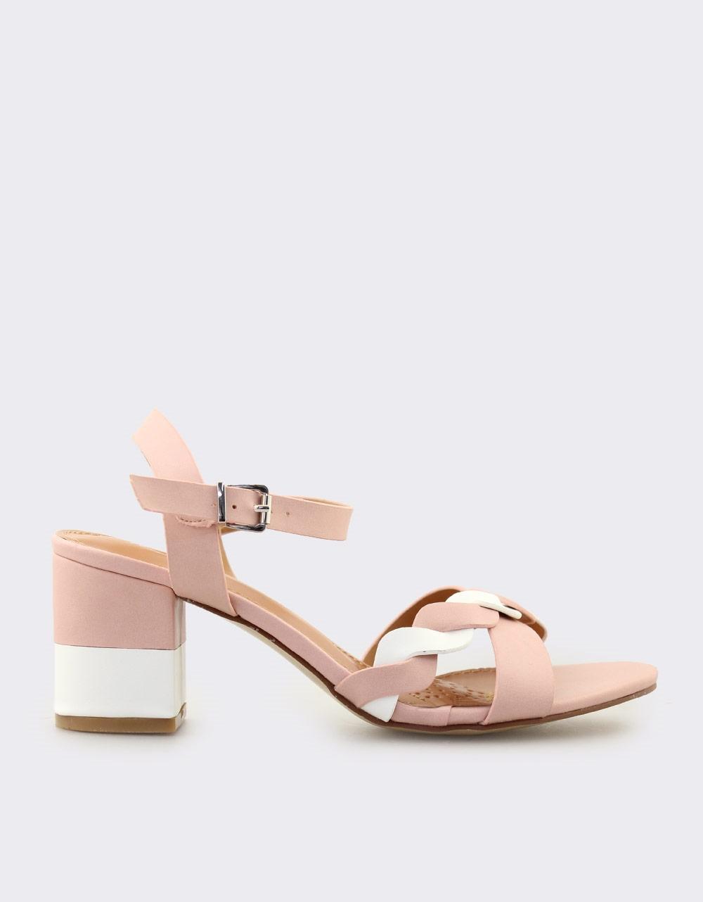 Εικόνα από Γυναικεία πέδιλα δίχρωμα Ροζ/Λευκό