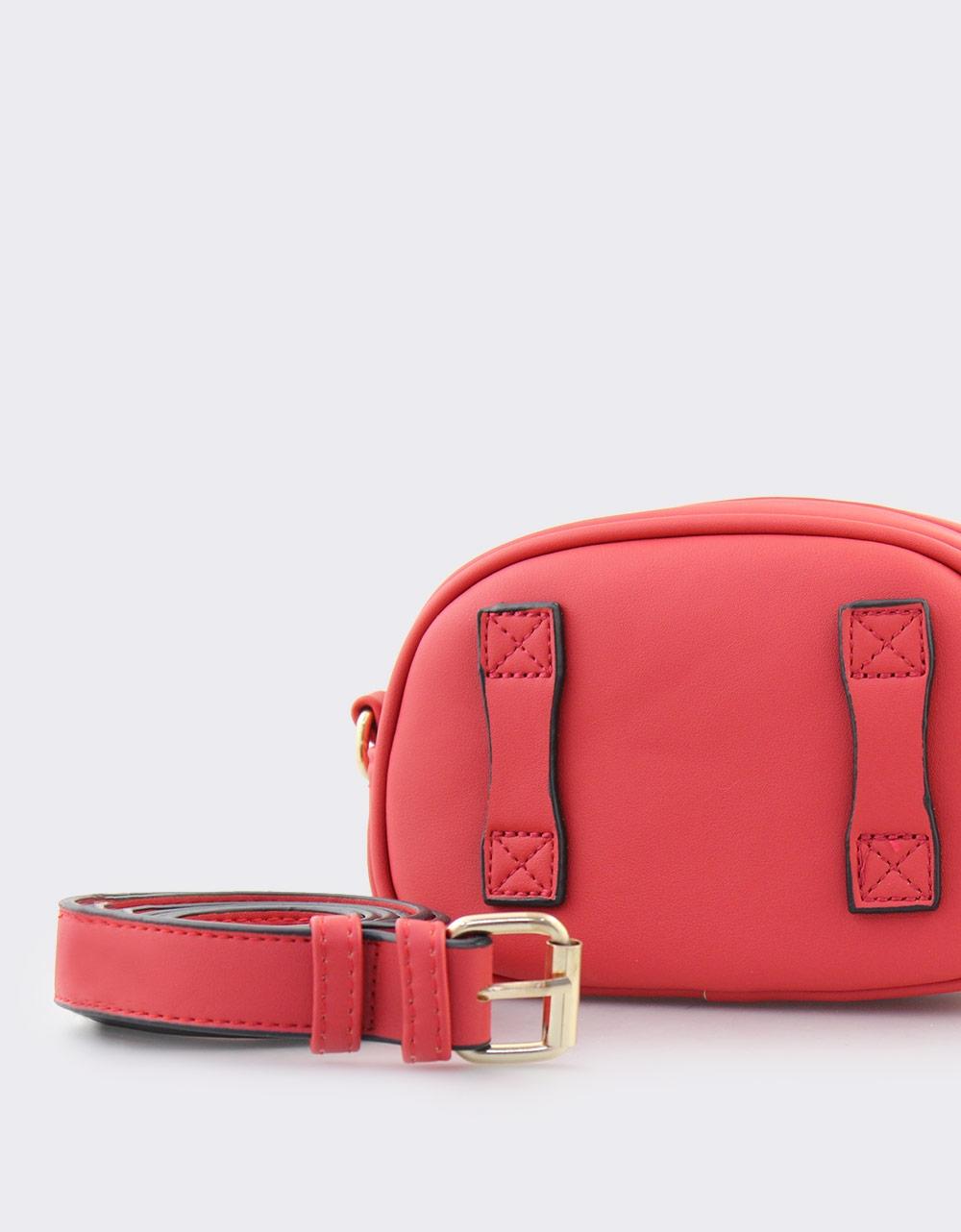 Εικόνα από Γυναικείες τσάντες μέσης με ανάγλυφο μοτίβο Κόκκινο