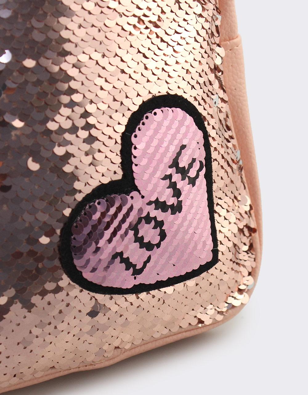 Εικόνα από Παιδικά σακίδια πλάτης με χρωματιστές πούλιες Ροζ