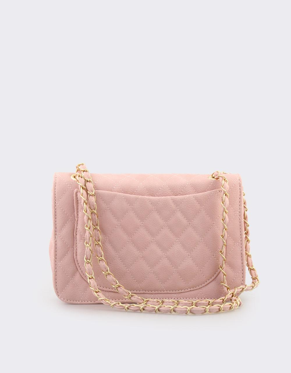 Εικόνα από Γυναικείες τσάντες ώμου καπιτονέ Ροζ