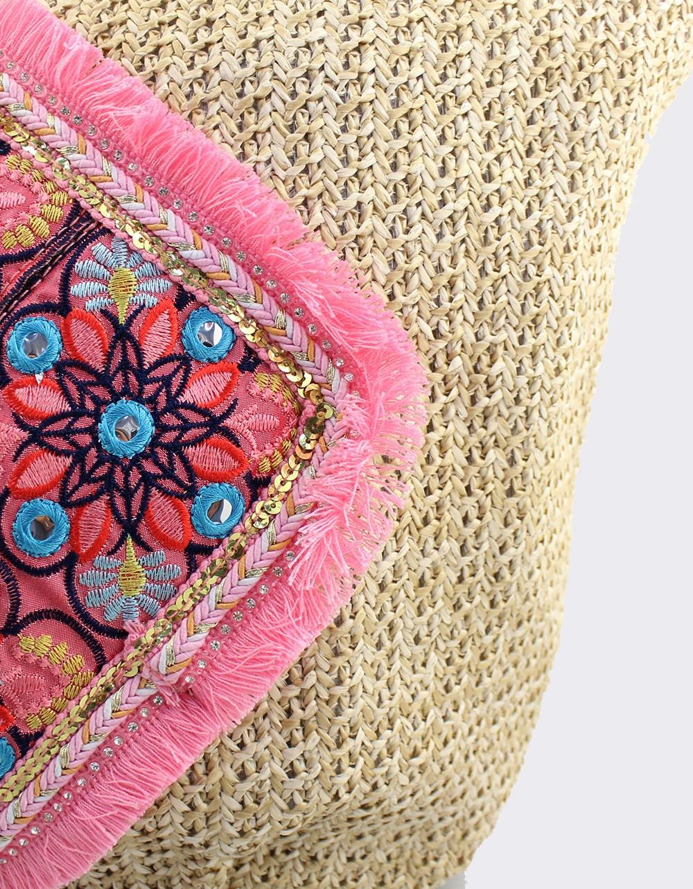 Εικόνα από Γυναικείες τσάντες θαλάσσης με μοτίβο με λουλούδια Πούρο