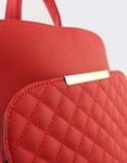 Εικόνα από Γυναικεία σακίδια πλάτης με καπιτονέ μοτίβο Κόκκινο