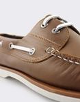 Εικόνα από Ανδρικά δερμάτινα loafers με περιμετρικά κορδόνια Ταμπά