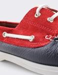 Εικόνα από Ανδρικά δερμάτινα loafers με περιμετρικά κορδόνια Multi