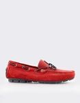 Εικόνα από Ανδρικά loafers καστόρινα με διακοσμητικά κορδόνια Κόκκινο