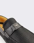 Εικόνα από Ανδρικά loafers με αγκράφα Μαύρο