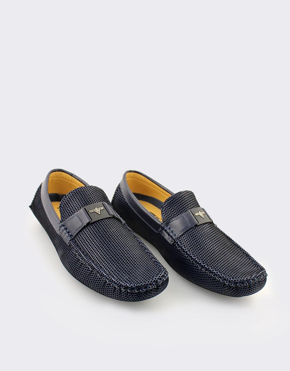 Εικόνα από Ανδρικά loafers με αγκράφα Μπλε