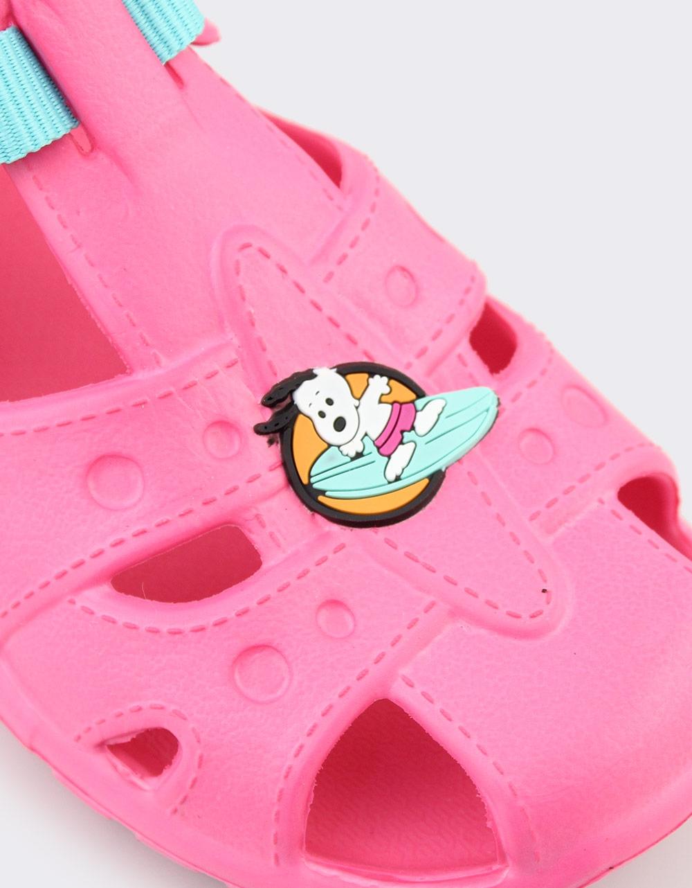 Εικόνα από Παιδικές σαγιονάρες Snoopy ημίκλειστες Ροζ