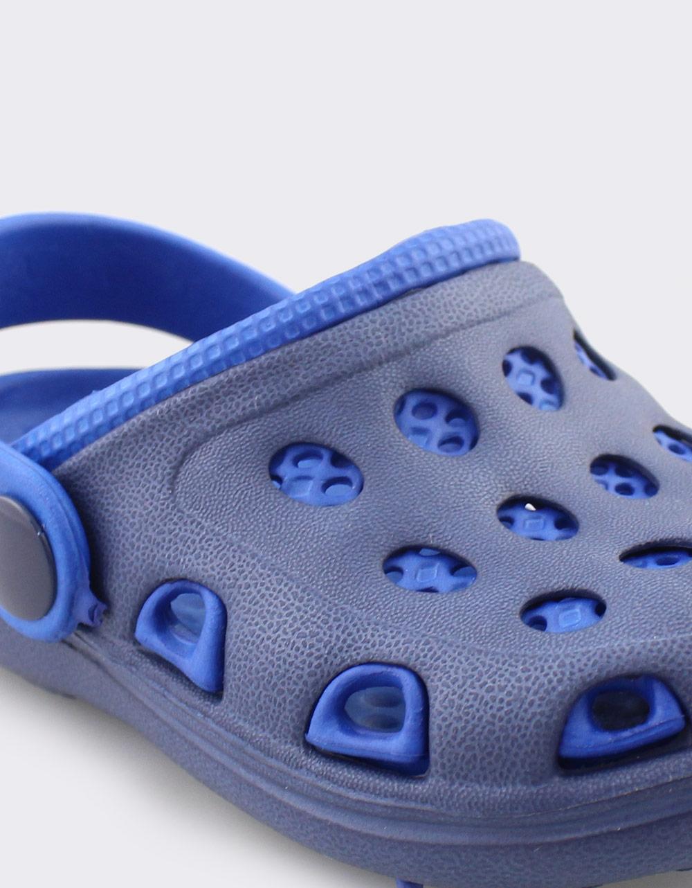 Εικόνα από Παιδικά σαμπό δίχρωμα με λουράκι Μπλε Σκούρο