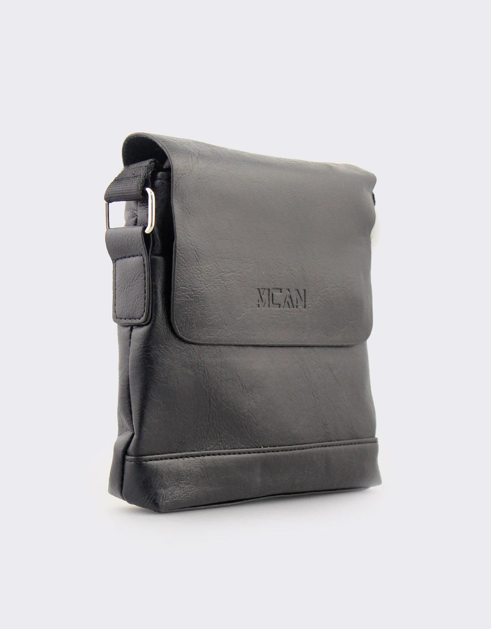 Εικόνα από Ανδρικές τσάντες ώμου με ανάγλυφη λεπτομέρεια Μαύρο