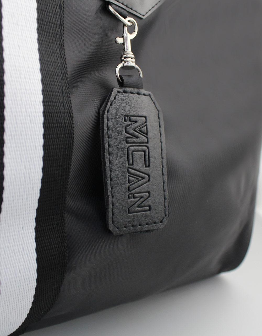 Εικόνα από Ανδρικές τσάντες ώμου με διπλή ρίγα Μαύρο