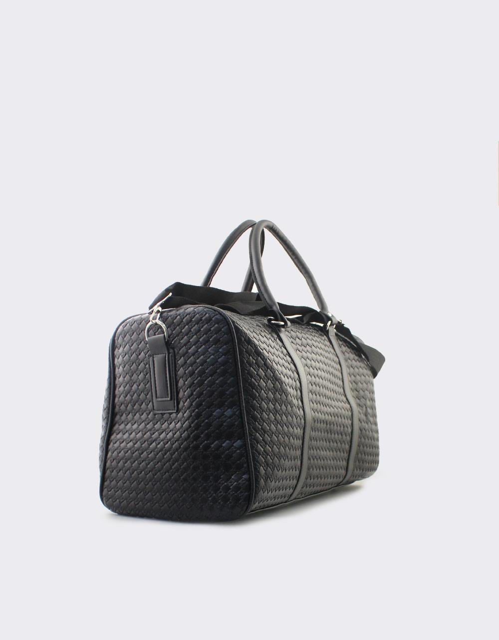 Εικόνα από Ανδρικές τσάντες ώμου με ανάγλυφο μοτίβο Μαύρο