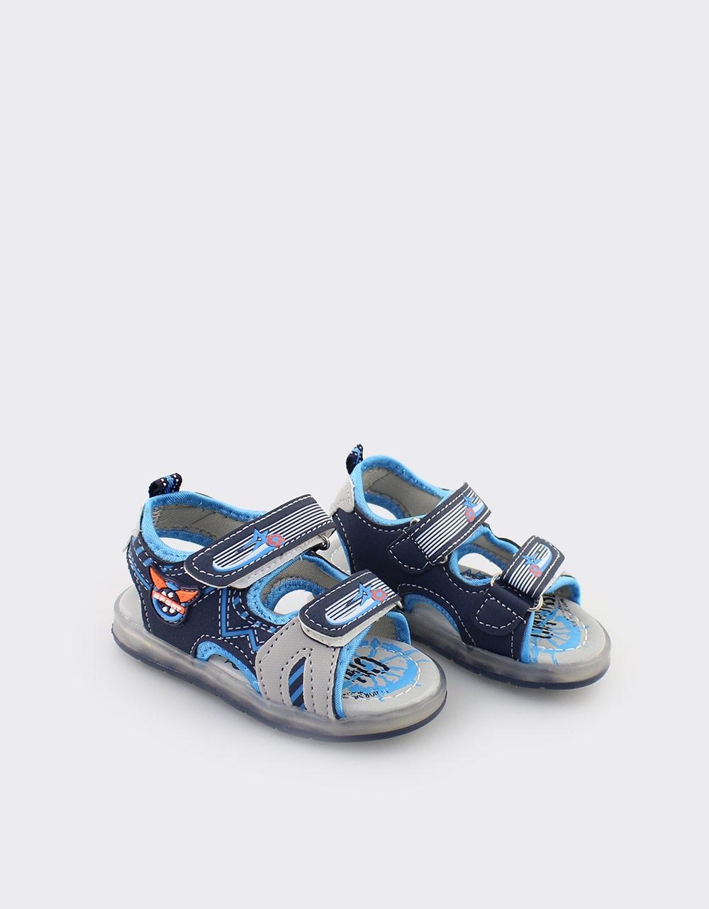 Εικόνα από Παιδικά πέδιλα με διακοσμητικές ραφές Μπλε