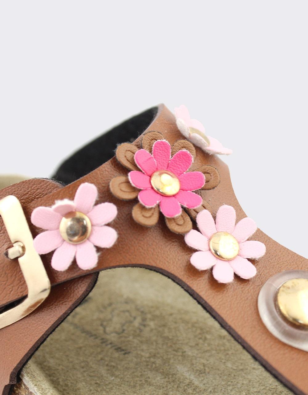 Εικόνα από Παιδικά σανδάλια με λουλούδια Ταμπά