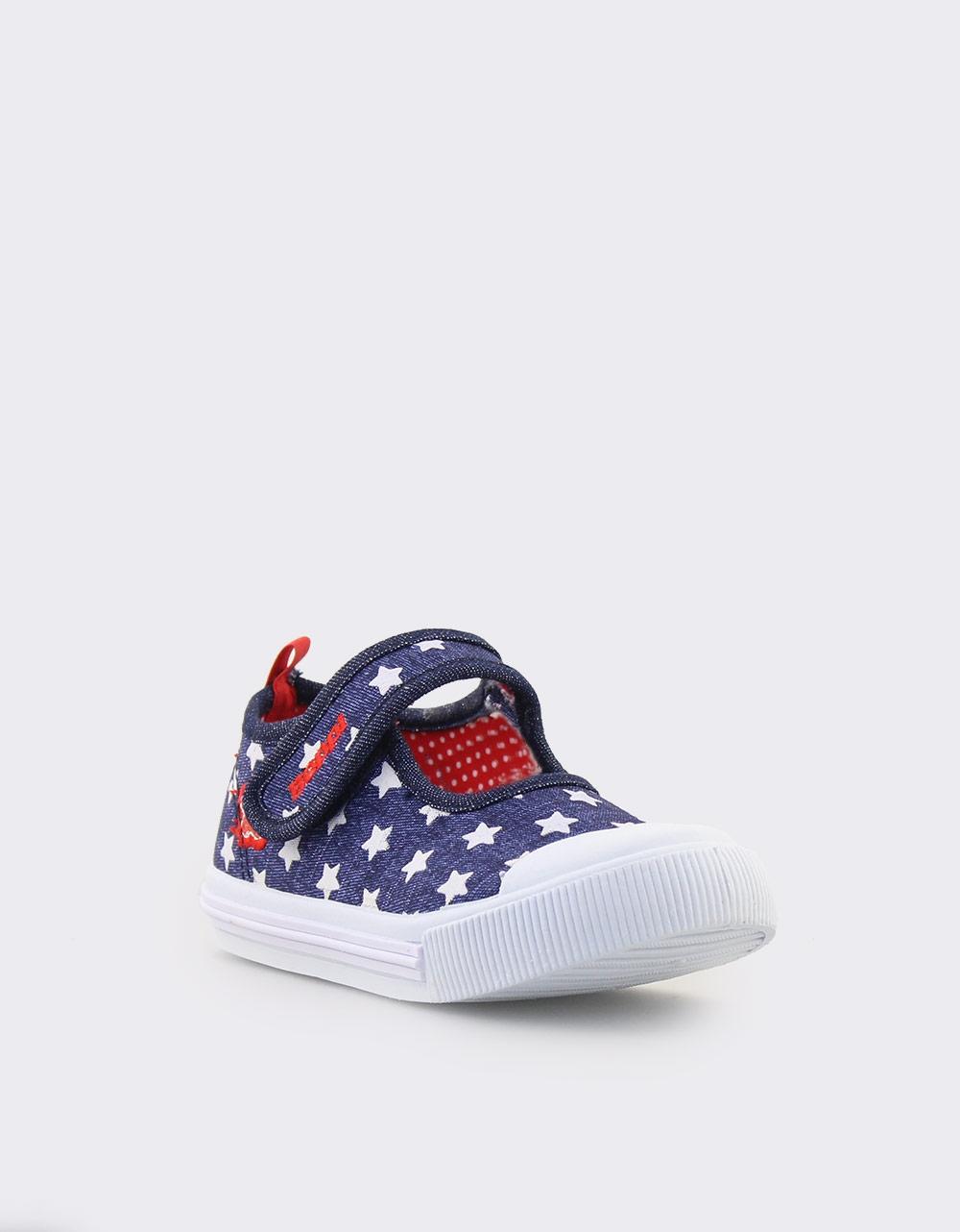 Εικόνα από Παιδικά sneakers με λάστιχο και αστεράκια Μπλε