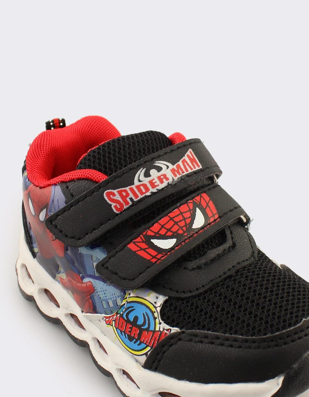 Εικόνα από Παιδικά αθλητικά Spiderman με φωτάκια Μαύρο