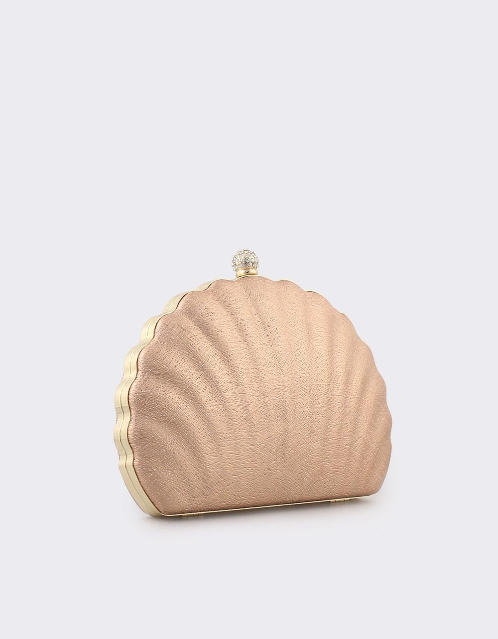 Εικόνα από Γυναικείοι φάκελοι clutch με σχέδιο κοχύλι Σαμπανί