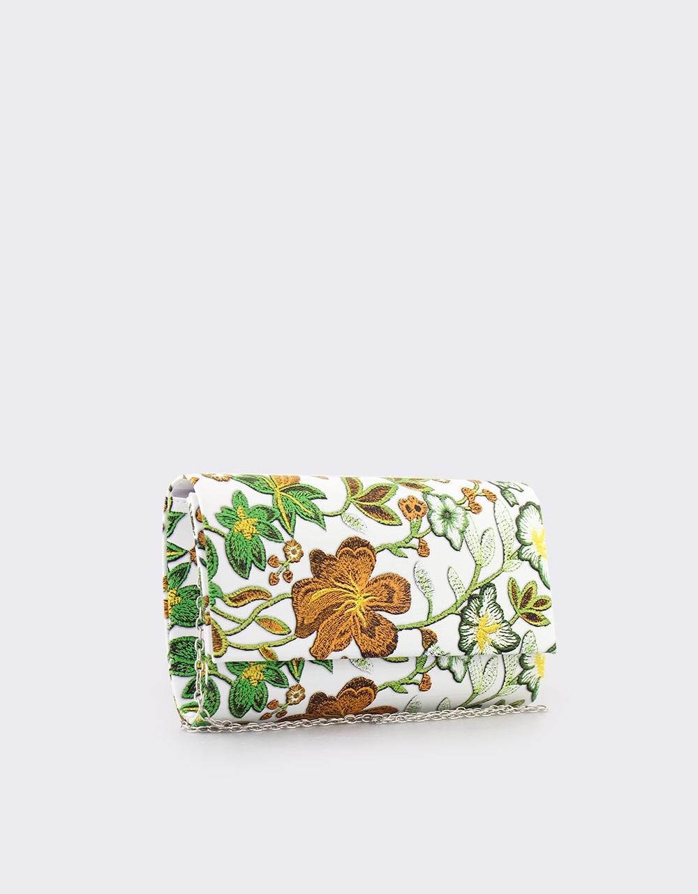 Εικόνα από Γυναικείοι φάκελοι με λουλούδια Πορτοκαλί
