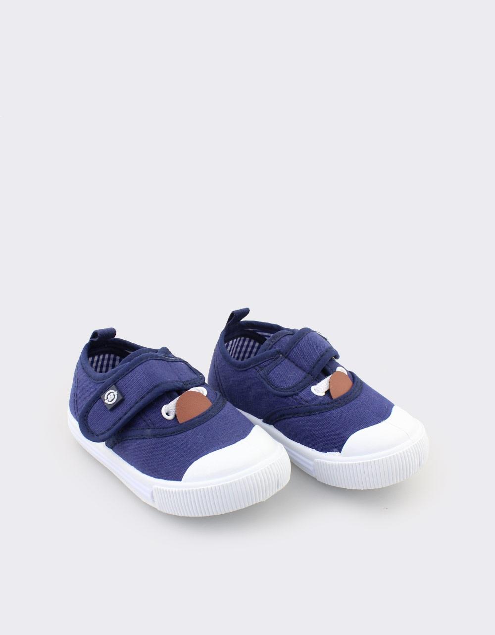 Εικόνα από Παιδικά sneakers με αυτοκόλλητο Navy