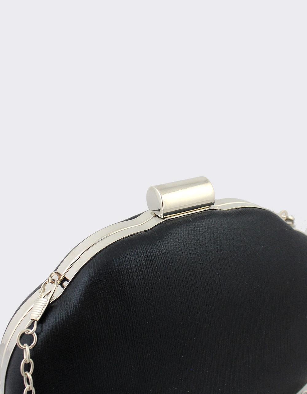 Εικόνα από Γυναικείοι φάκελοι clutch μεταλλιζέ Μαύρο