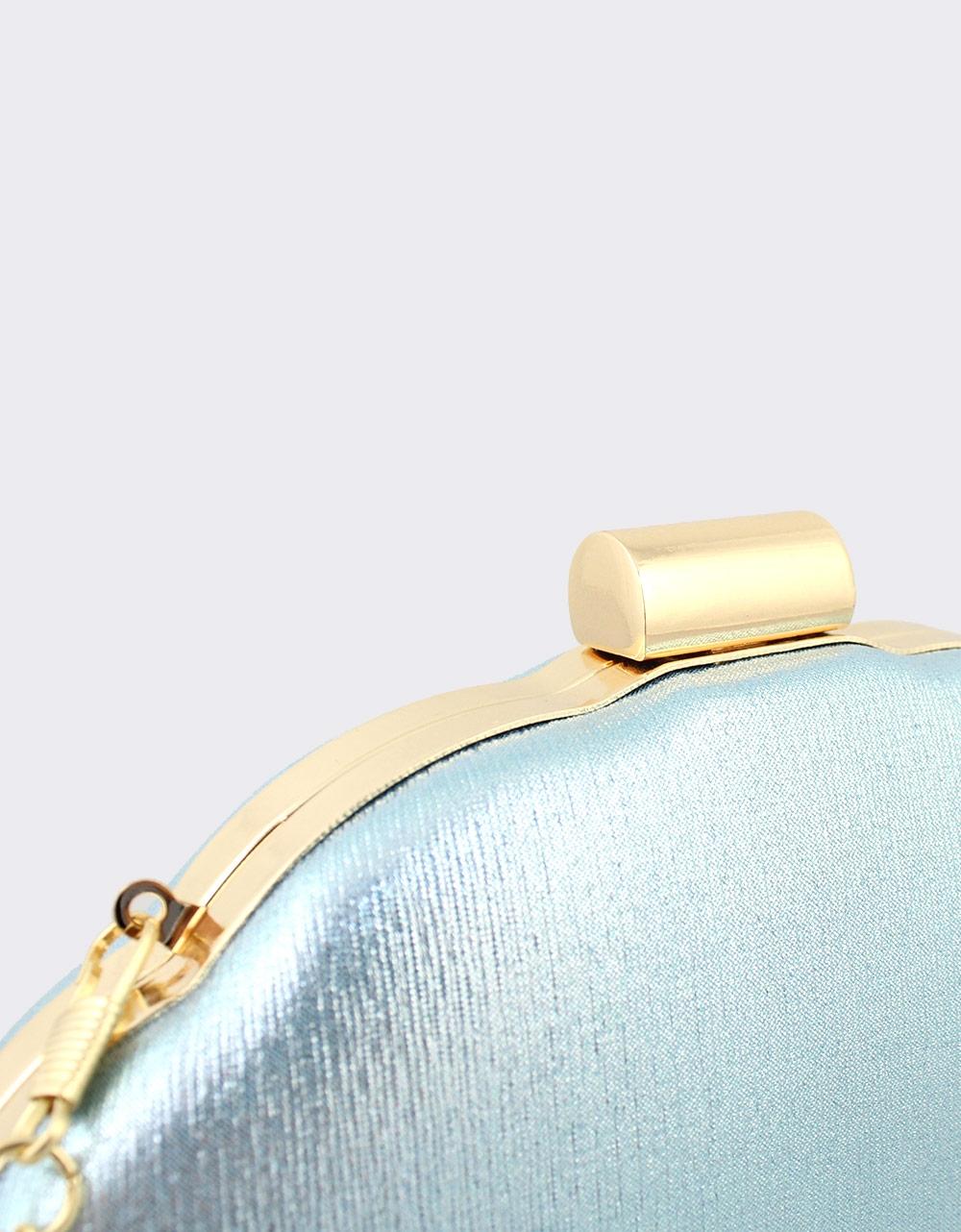 Εικόνα από Γυναικείοι φάκελοι clutch μεταλλιζέ Σιέλ