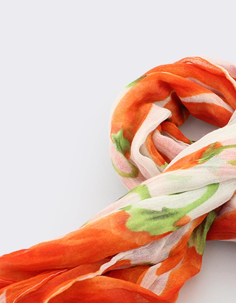 Εικόνα από Γυναικεία φουλάρια δίχρωμα Πορτοκαλί