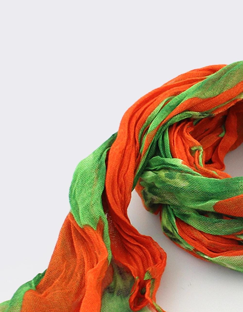 Εικόνα από Γυναικεία φουλάρια δίχρωμα Πράσινο