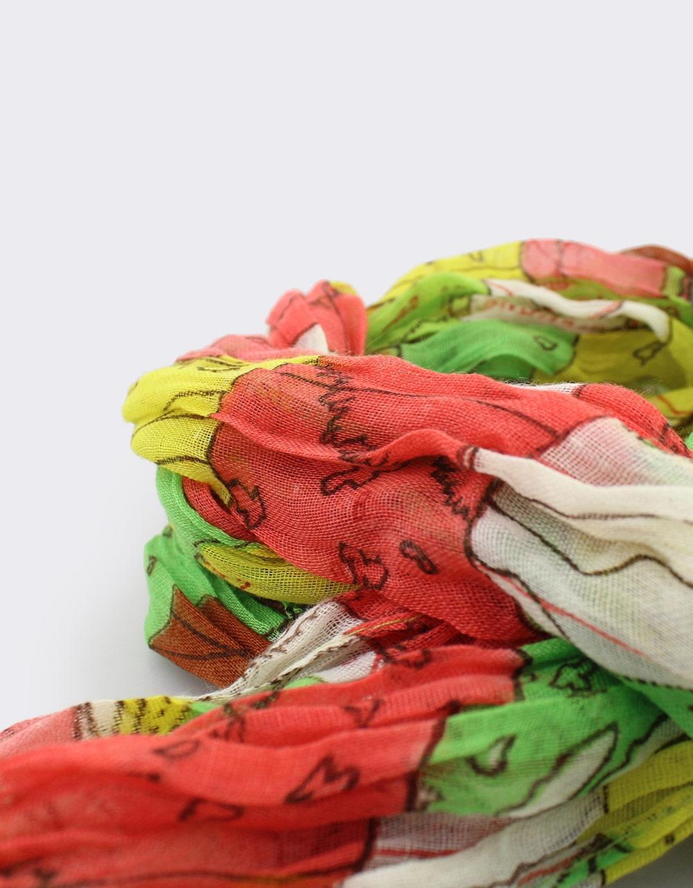Εικόνα από Γυναικεία φουλάρια multi-color Πράσινο