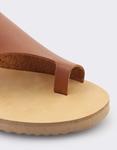 Εικόνα από Γυναικεία σανδάλια δερμάτινα μονόχρωμα Ταμπά