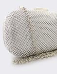 Εικόνα από Γυναικείοι φάκελοι clutch με strass Ασημί