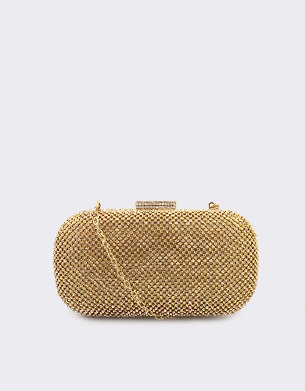 Εικόνα από Γυναικείοι φάκελοι clutch με strass Χρυσό