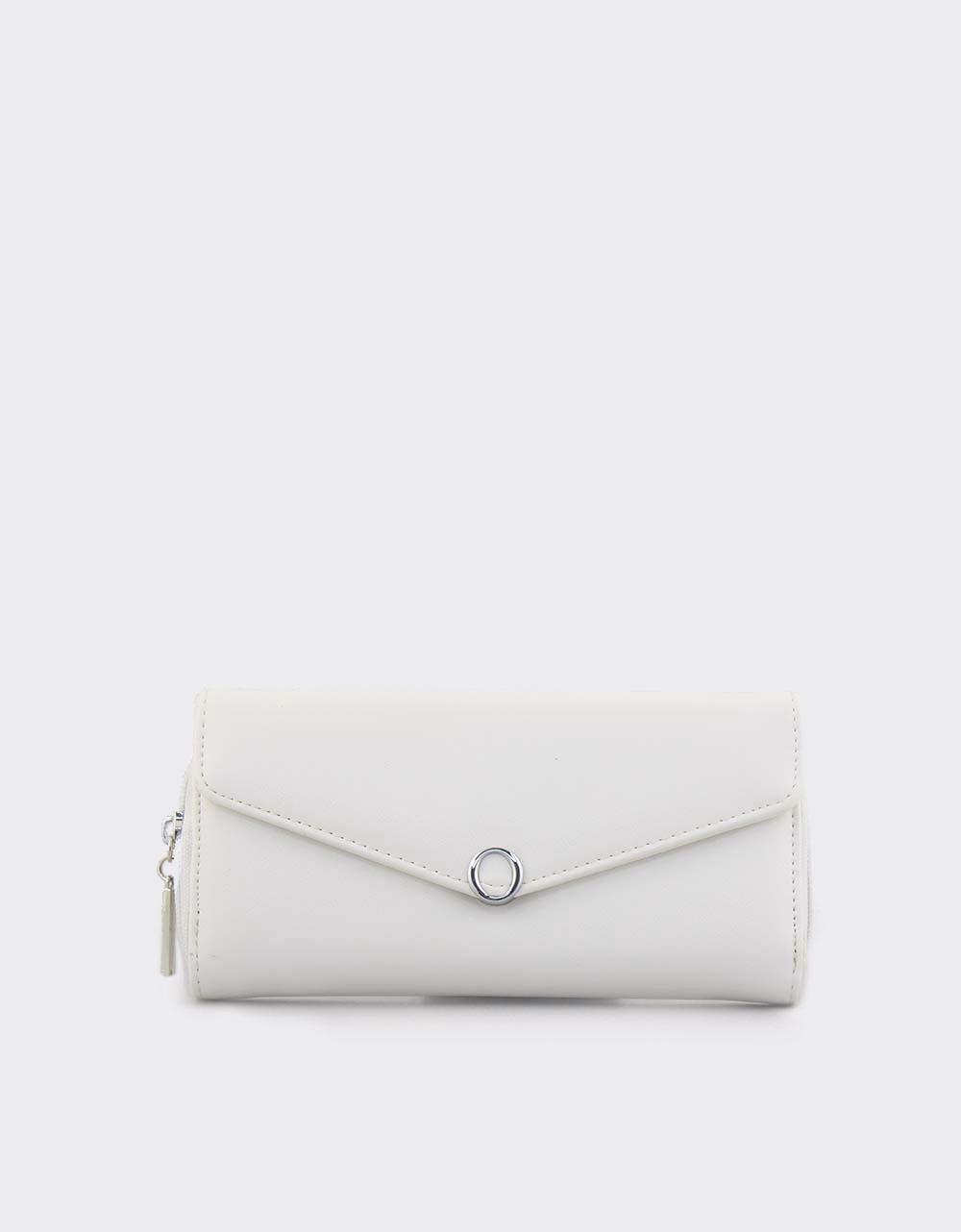 Εικόνα από Γυναικεία πορτοφόλια με καπάκι Λευκό
