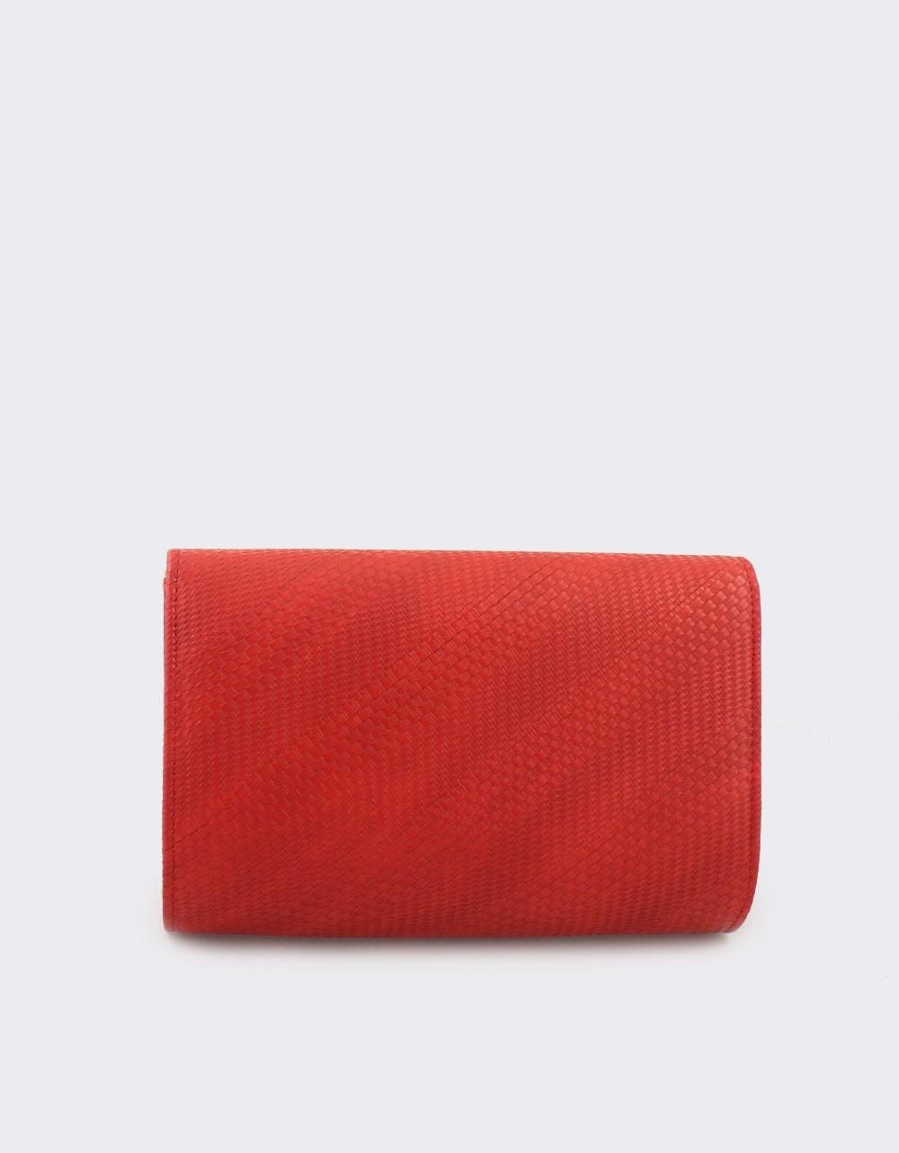Εικόνα από Γυναικείοι φάκελοι με πλεκτό μοτίβο Κόκκινο
